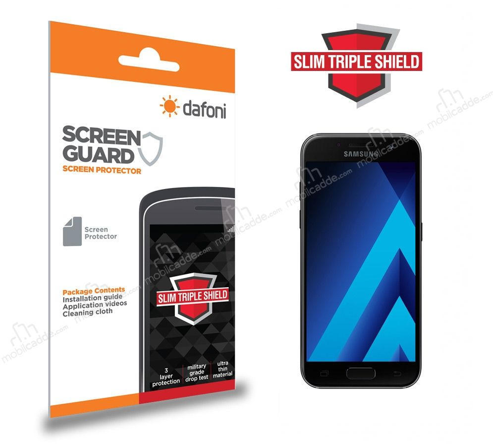 Dafoni Samsung Galaxy A7 2017 Slim Triple Shield Ekran Koruyucu