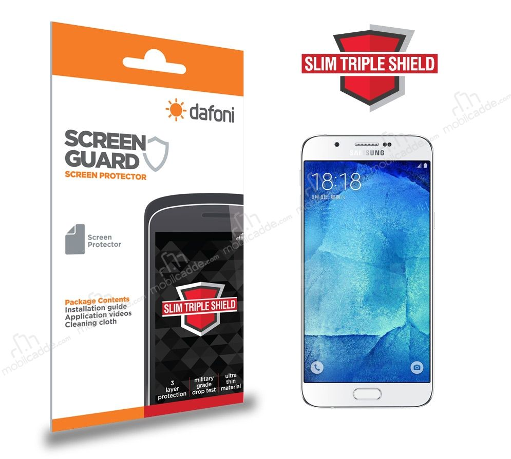 Dafoni Samsung Galaxy A8 Slim Triple Shield Ekran Koruyucu