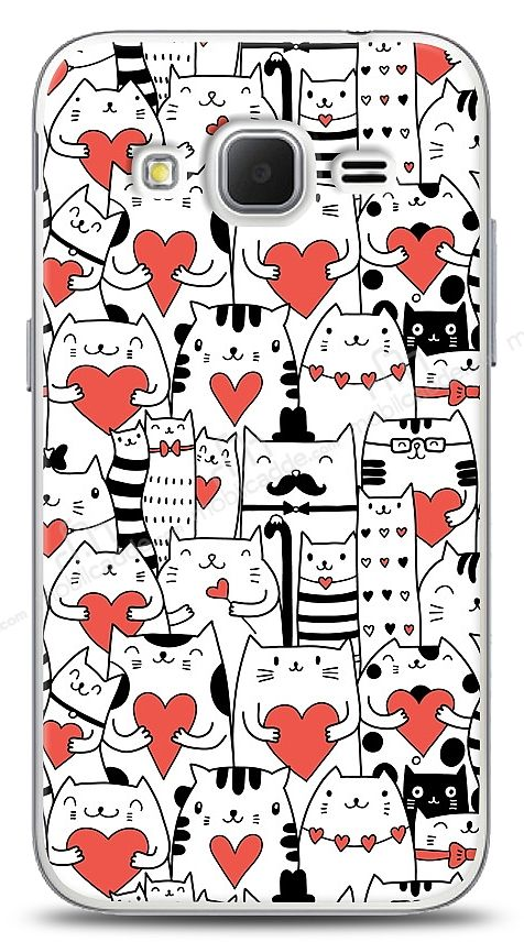 Samsung Galaxy Core Prime Love Cats Kılıf