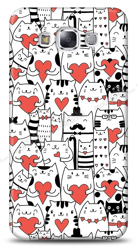 Samsung Galaxy E5 Love Cats Kılıf