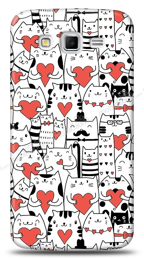 Samsung Galaxy Grand 2 Love Cats Kılıf