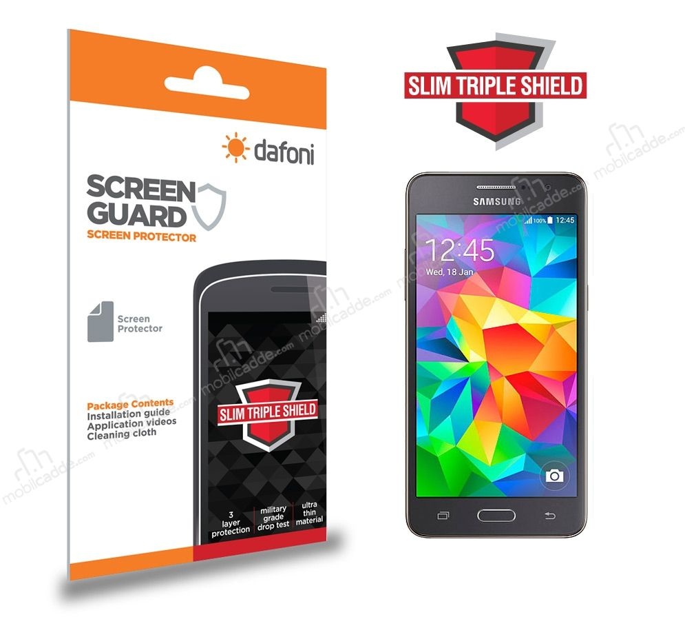 Dafoni Samsung Galaxy Grand Prime / Prime Plus Slim Triple Shield Ekran Koruyucu