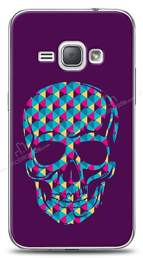 Samsung Galaxy J1 2016 Color Skull Purple Kılıf