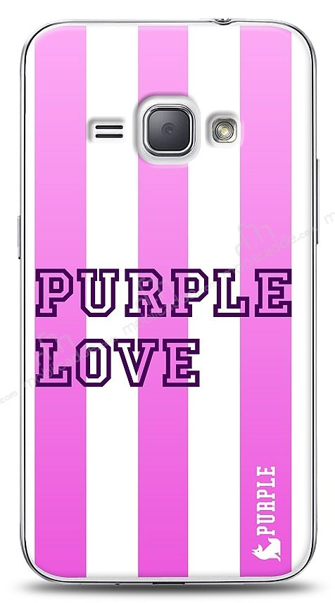 Samsung Galaxy J1 2016 Purple Stripe Kılıf