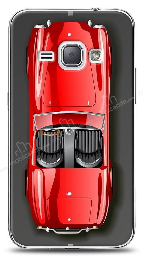 Samsung Galaxy J1 2016 Red Retro Car Kılıf