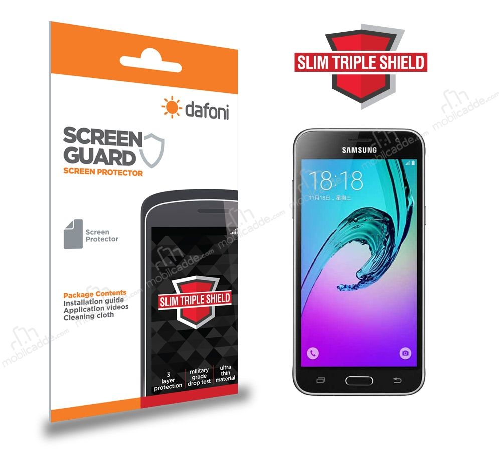 Dafoni Samsung Galaxy J3 2016 Slim Triple Shield Ekran Koruyucu
