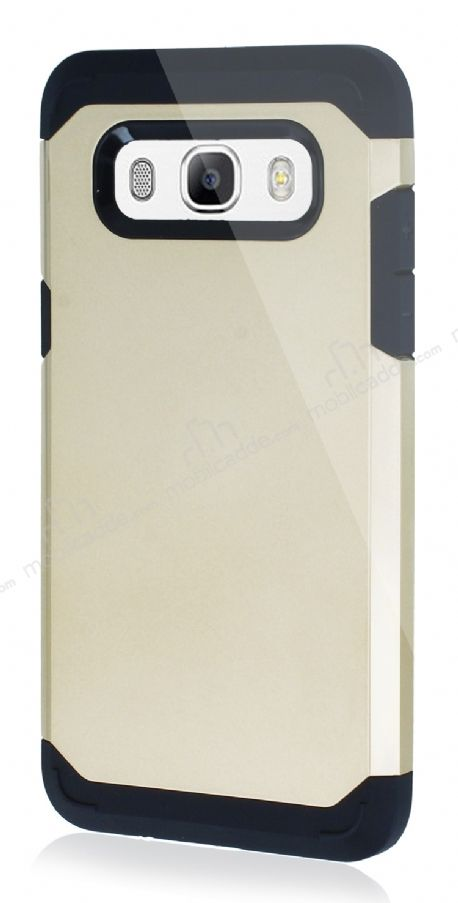 Dafoni Samsung Galaxy J5 2016 Slim Power Ultra Koruma Gold Kılıf