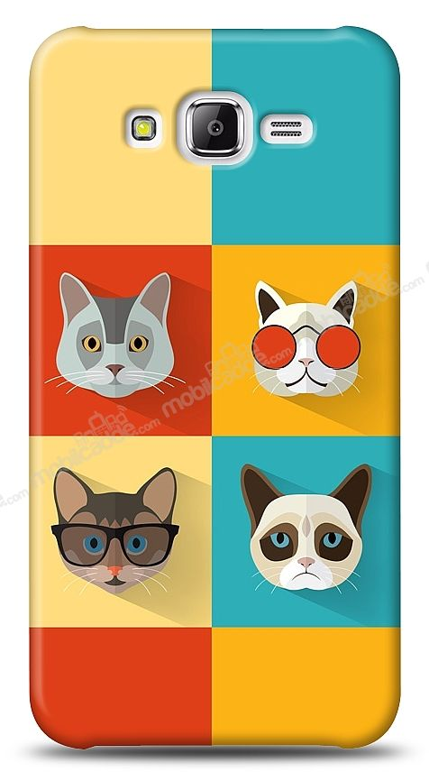 Samsung Galaxy J7 Four Cats Kılıf
