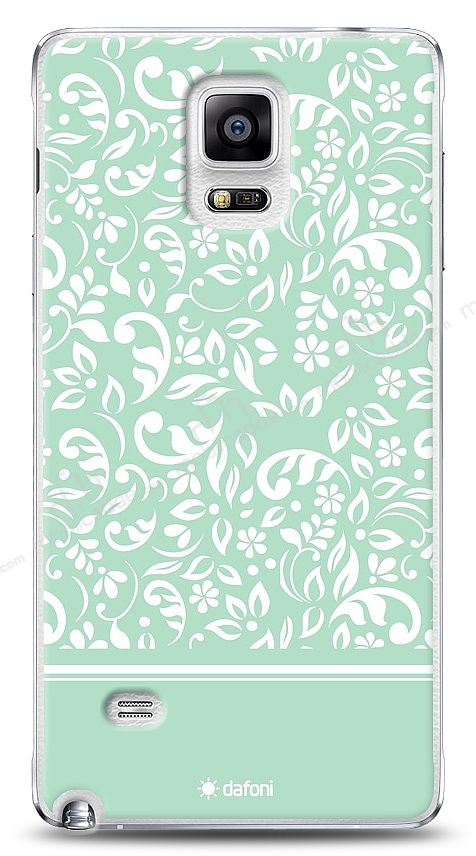 Samsung Galaxy Note 4 Green Flower Kılıf