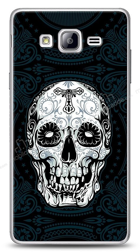 Samsung Galaxy On7 Black Skull Kılıf