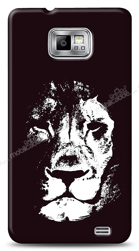Samsung Galaxy S2 Black Lion Kılıf
