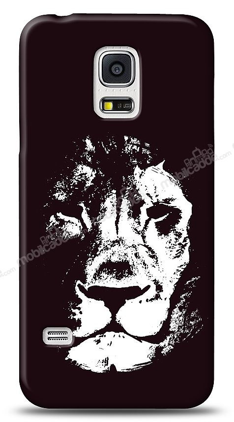 Samsung Galaxy S5 Black Lion Kılıf