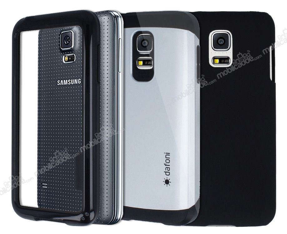 Dafoni Samsung Galaxy S5 mini For Men 3'ü Bir Arada Kılıf Seti