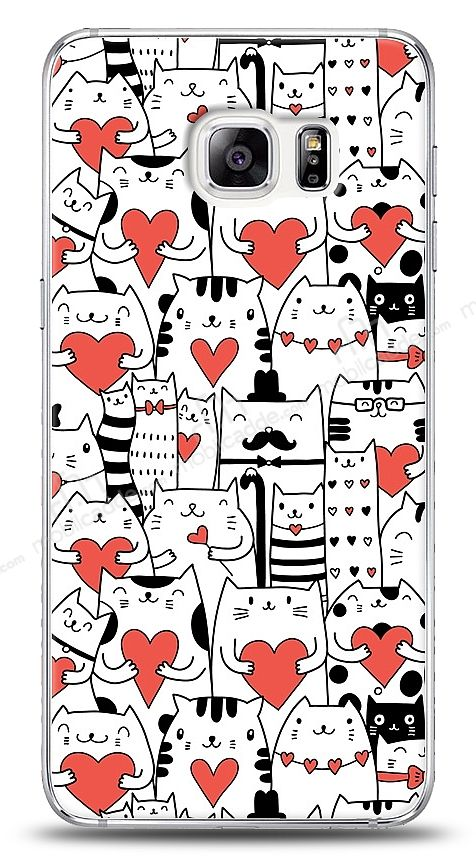 Samsung Galaxy S6 Edge Plus Love Cats Kılıf