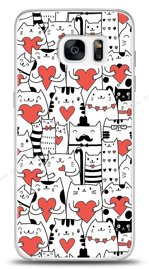 Samsung Galaxy S7 Love Cats Kılıf