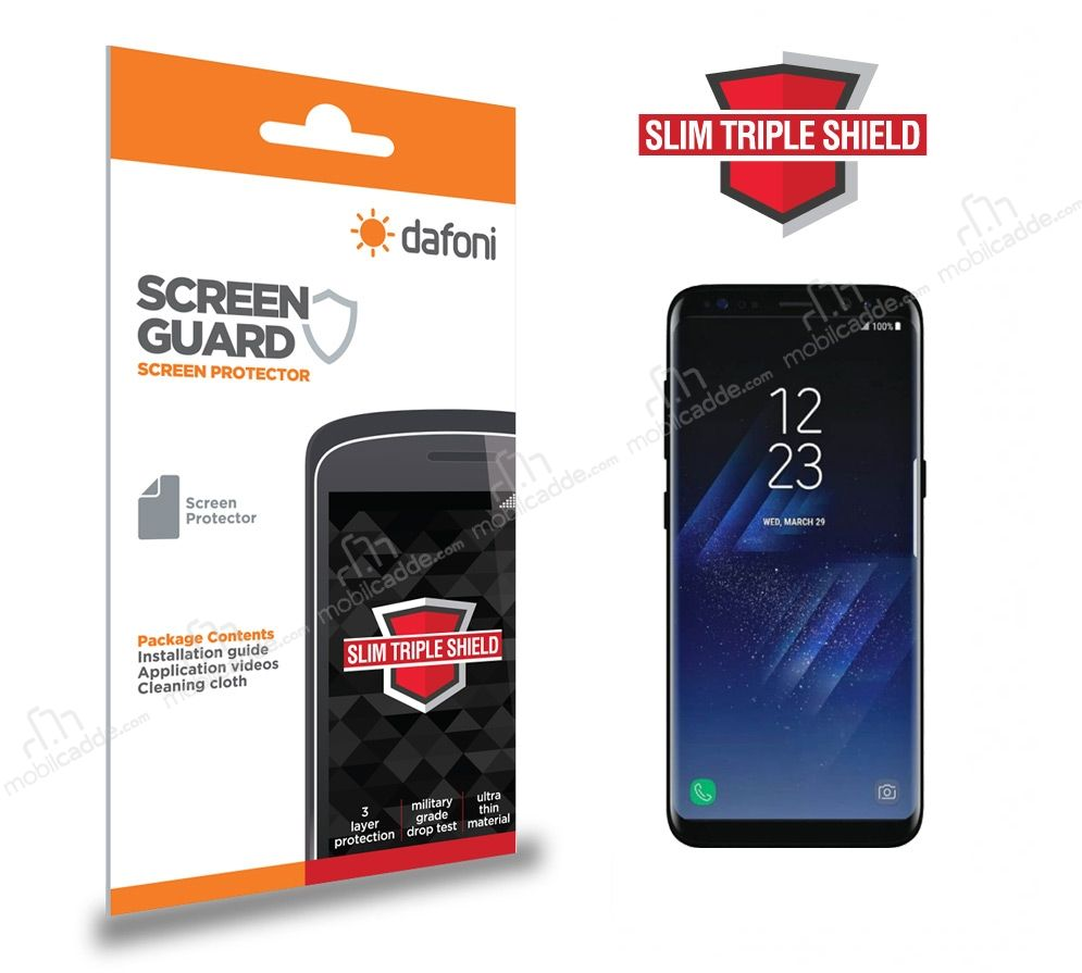 Dafoni Samsung Galaxy S8 Plus Slim Triple Shield Ekran Koruyucu