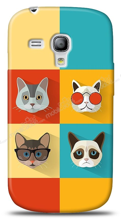 Samsung i8190 Galaxy S3 mini Four Cats Kılıf