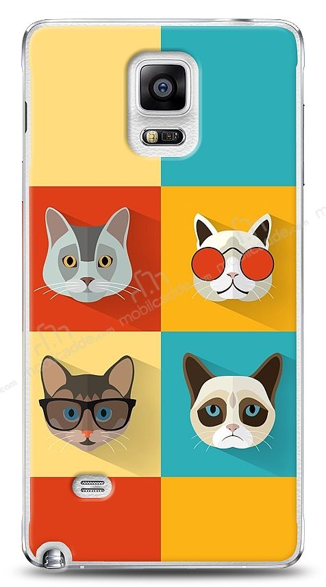 Samsung N9100 Galaxy Note 4 Four Cats Kılıf
