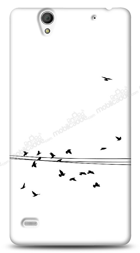 Sony Xperia C4 Flying Birds Kılıf