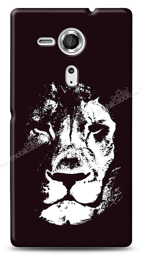 Sony Xperia SP Black Lion Kılıf