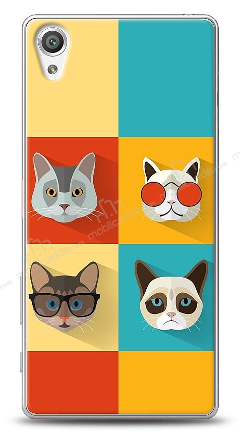 Sony Xperia X Four Cats Kılıf