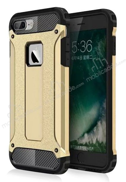 Dafoni Tough Power iPhone 7 Plus Ultra Koruma Gold Kılıf