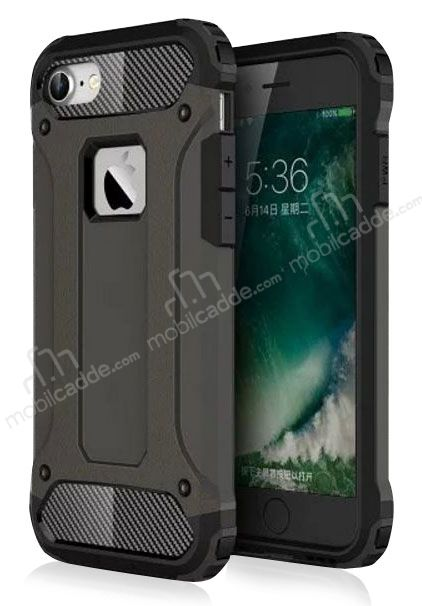 Dafoni Tough Power iPhone 7 / 8 Ultra Koruma Gun Black Kılıf