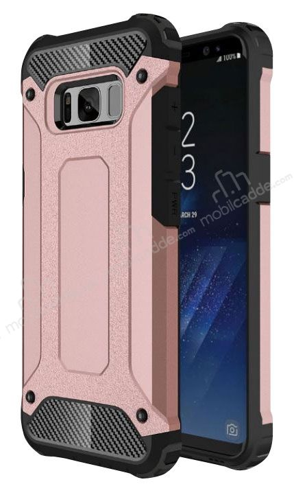 Dafoni Tough Power Samsung Galaxy S8 Ultra Koruma Rose Gold Kılıf