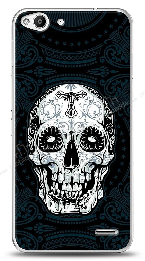 Vodafone Smart 6 Black Skull Kılıf