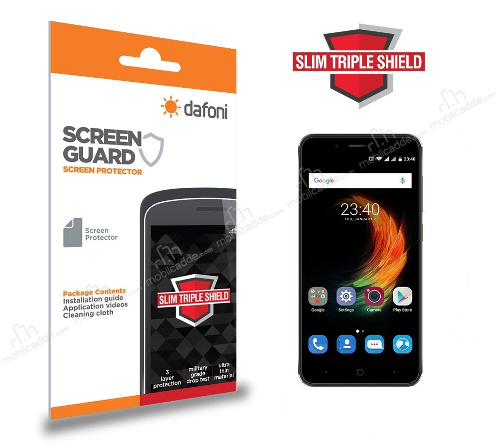 Dafoni ZTE Blade A610 Plus Slim Triple Shield Ekran Koruyucu