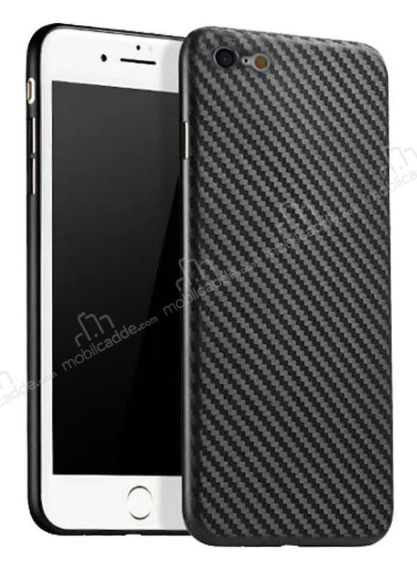 Eiroo Air Carbon iPhone 6 Plus / 6S Plus Ultra İnce Siyah Rubber Kılıf