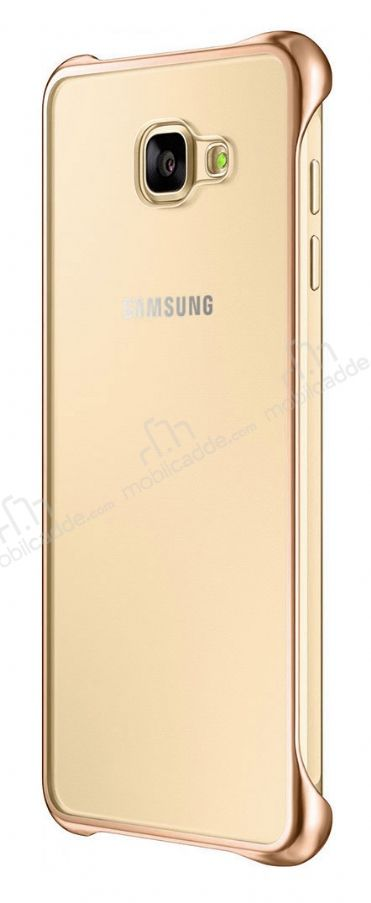 Eiroo Color Thin Samsung Galaxy A5 2016 Gold Rubber Kılıf