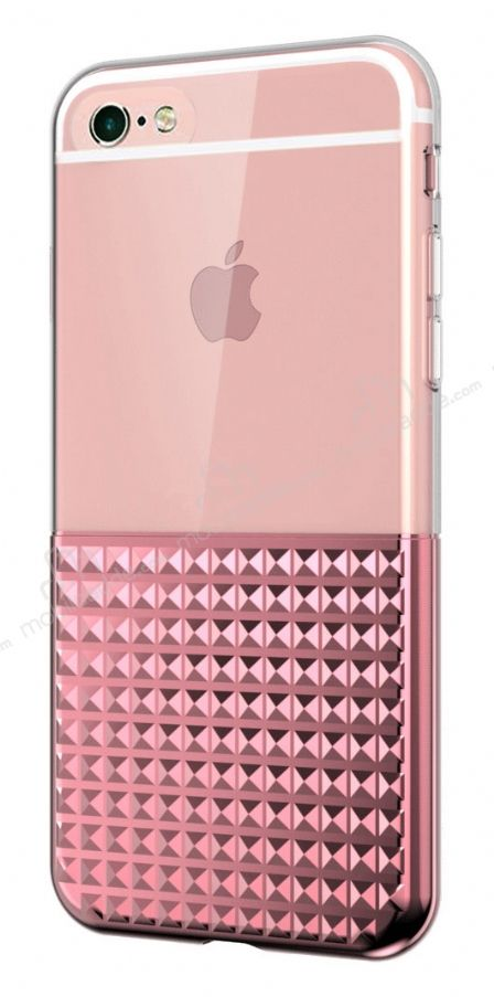 Eiroo Half Glare iPhone 6 / 6S Rose Gold Silikon Kılıf
