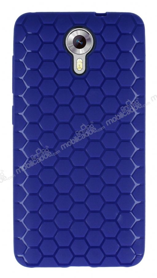 Eiroo Honeycomb General Mobile Android One Lacivert Silikon Kılıf