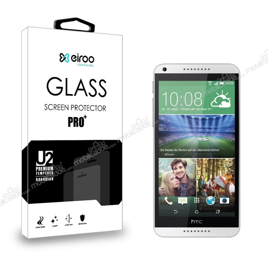 Eiroo HTC Desire 816 Tempered Glass Cam Ekran Koruyucu