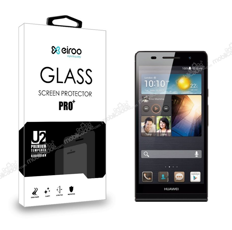 Eiroo Huawei Ascend P6 Tempered Glass Cam Ekran Koruyucu