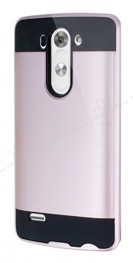 Eiroo Iron Shield LG G3 S / G3 Beat Ultra Koruma Rose Gold Kılıf