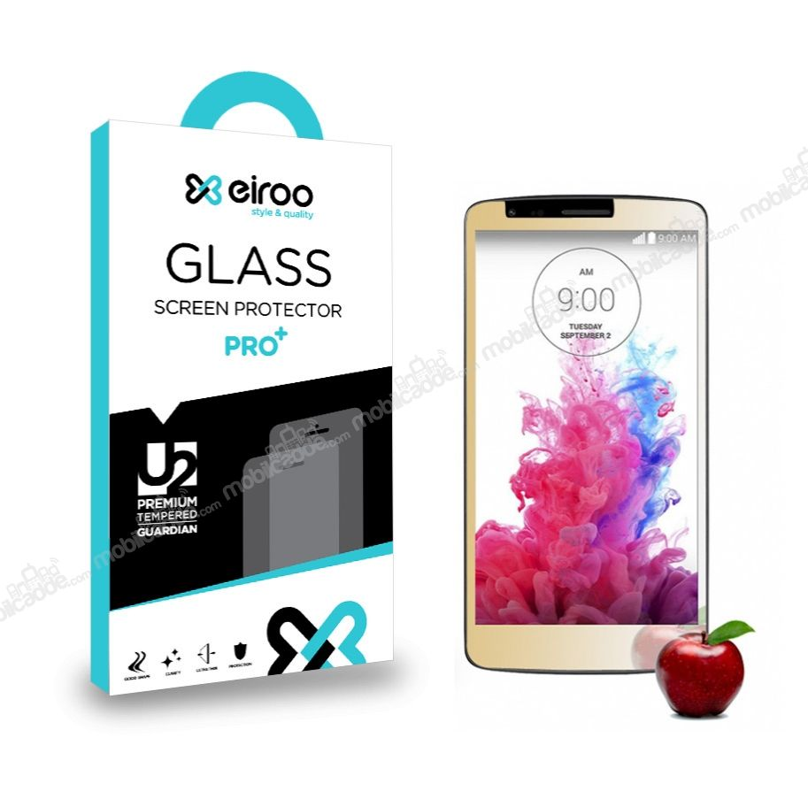 Eiroo LG G3 Tempered Glass Ayna Gold Cam Ekran Koruyucu