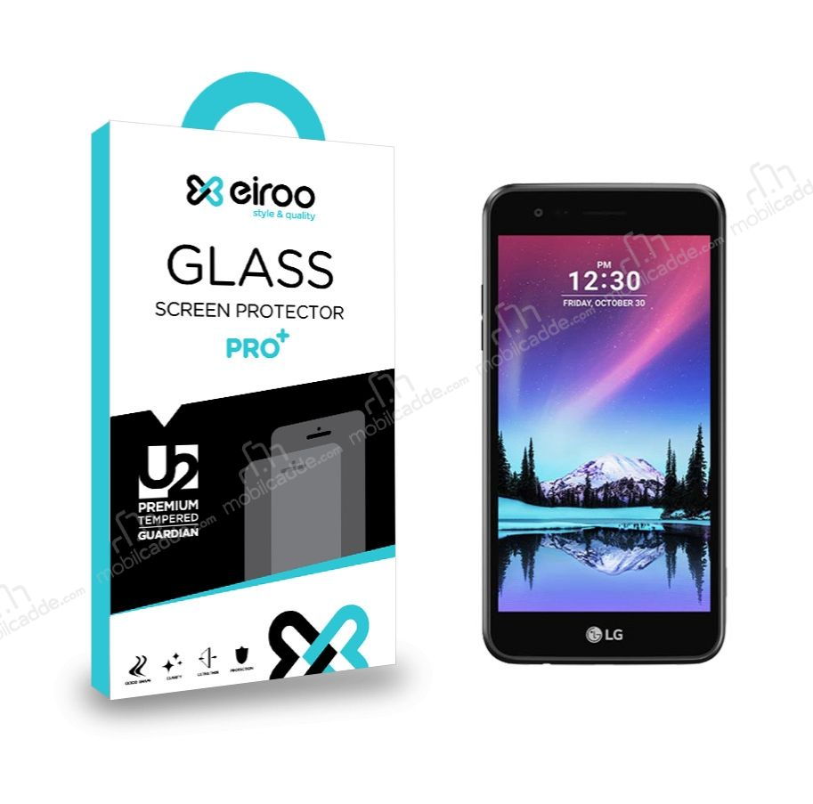 Eiroo LG K4 2017 Tempered Glass Cam Ekran Koruyucu