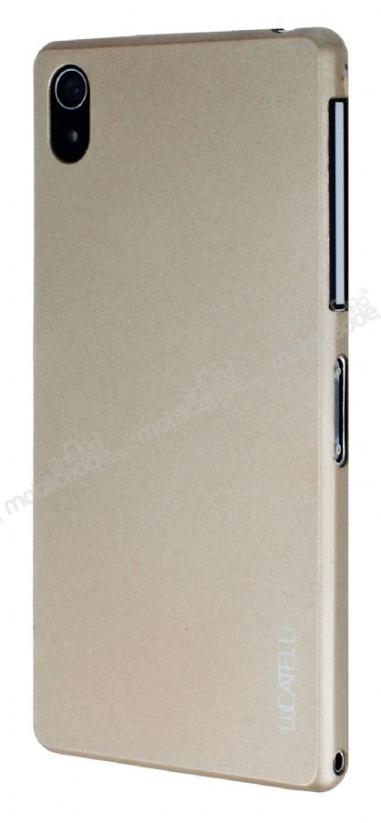 Eiroo Lucatelli Sony Xperia Z2 Ultra İnce Gold Rubber Kılıf
