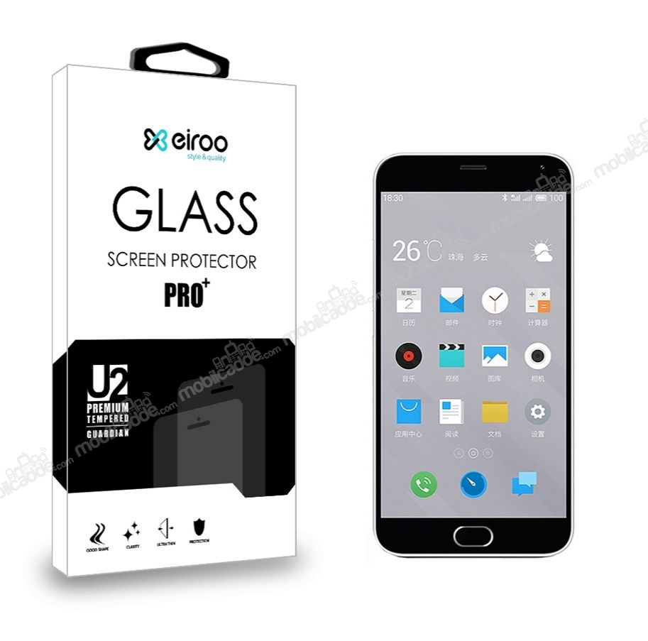 Eiroo Meizu M2 note Tempered Glass Cam Ekran Koruyucu
