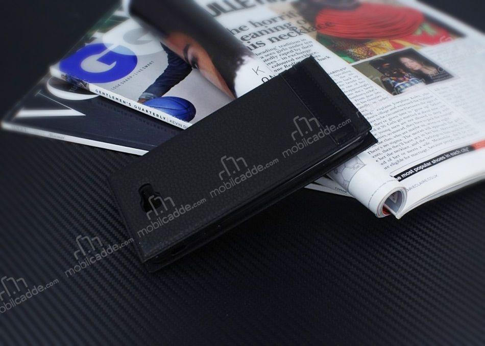 Samsung Galaxy J7 Prime 2 Gizli Mknatsl Pencereli Siyah Deri Klf