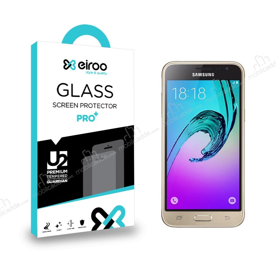 Eiroo Samsung Galaxy J3 Tempered Glass Cam Ekran Koruyucu