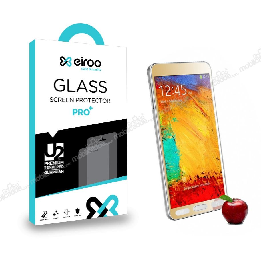 Eiroo Samsung N9000 Galaxy Note 3 Tempered Glass Ayna Gold Cam Ekran Koruyucu