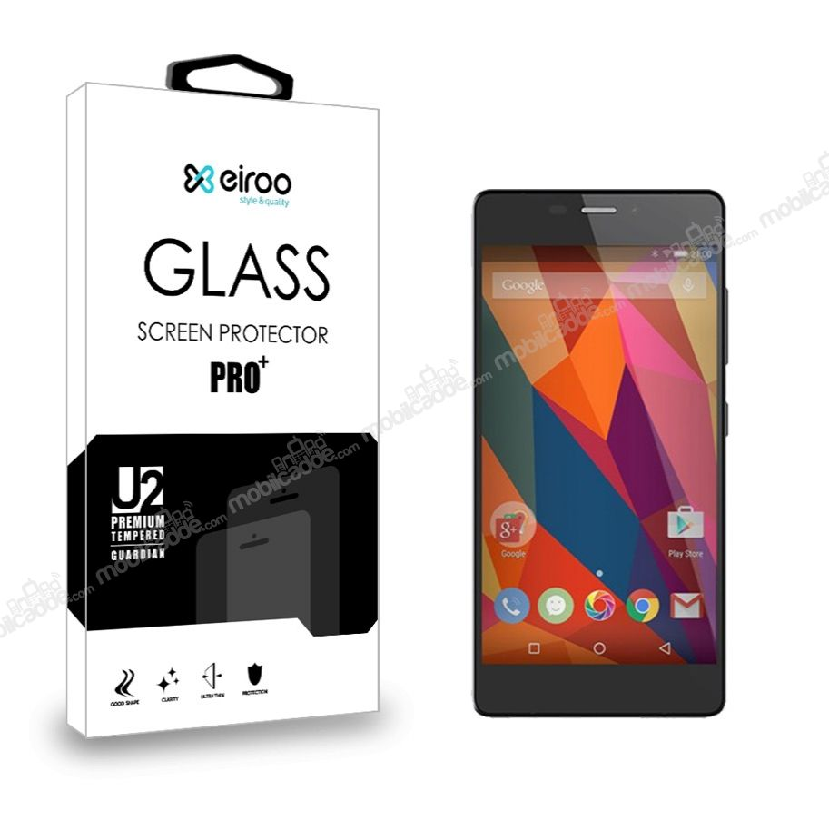 Eiroo General Mobile Discovery Elite Plus Tempered Glass Cam Ekran Koruyucu