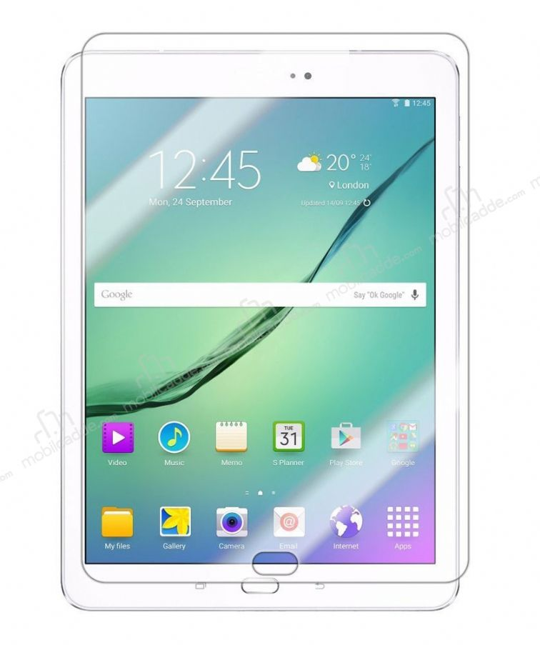 Eiroo Samsung Galaxy Tab S2 3G 9.7 Tempered Glass Tablet Cam Ekran Koruyucu