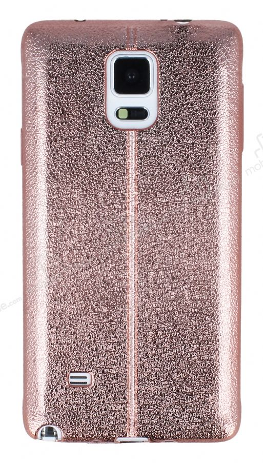 Fit Samsung N9100 Galaxy Note 4 Ultra İnce Metalik Rose Gold Silikon Kılıf