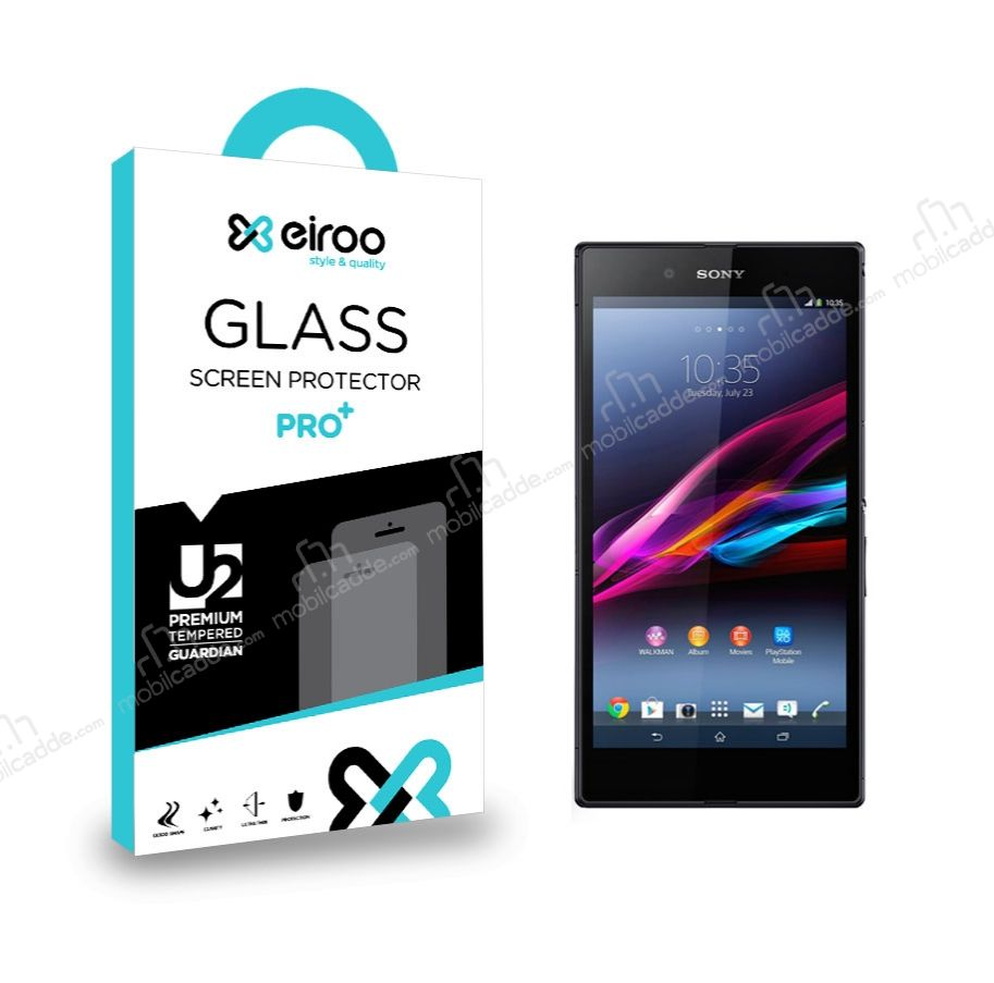 Eiroo Sony Xperia Z Ultra Tempered Glass Cam Ekran Koruyucu