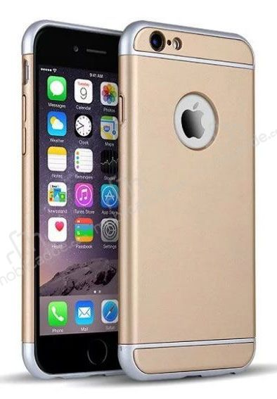 Eiroo Trio Fit iPhone 6 Plus / 6S Plus 3ü 1 Arada Gold Rubber Kılıf