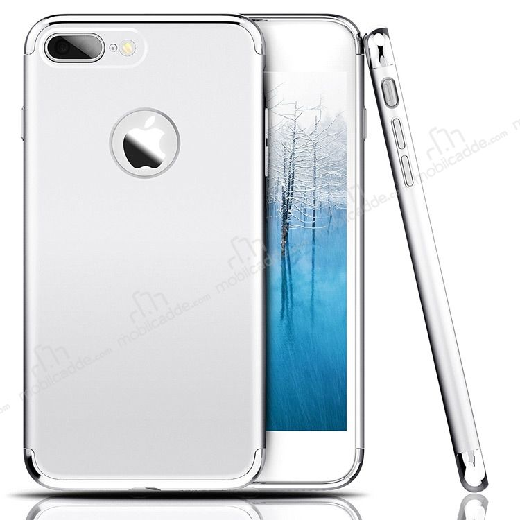 Eiroo Trio Fit iPhone 7 Plus 3ü 1 Arada Silver Rubber Kılıf